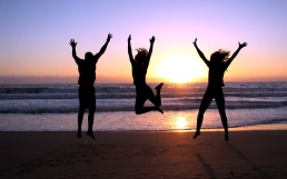 Don't forget to leave time for jumping up and down on the beach with your friends